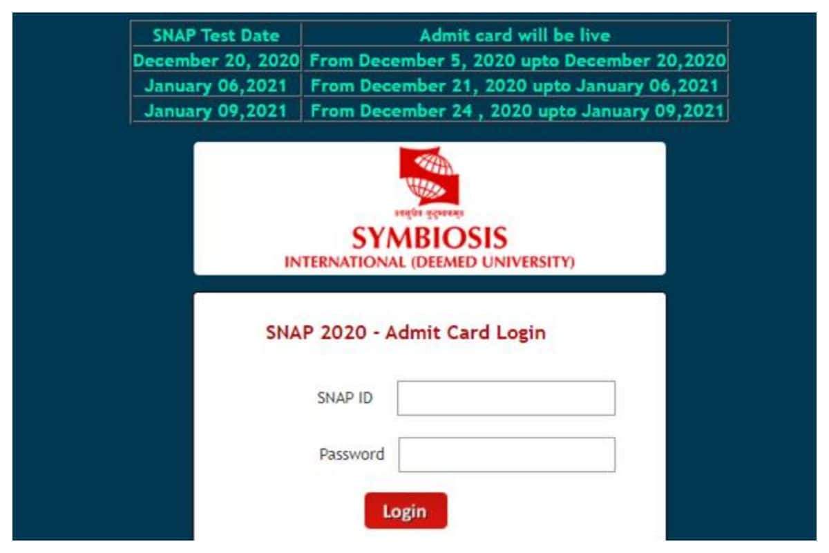 SNAP Result 2020 LIVE NOW for MBA Entrance Exam, Download SNAP Scorecard at snaptest.org