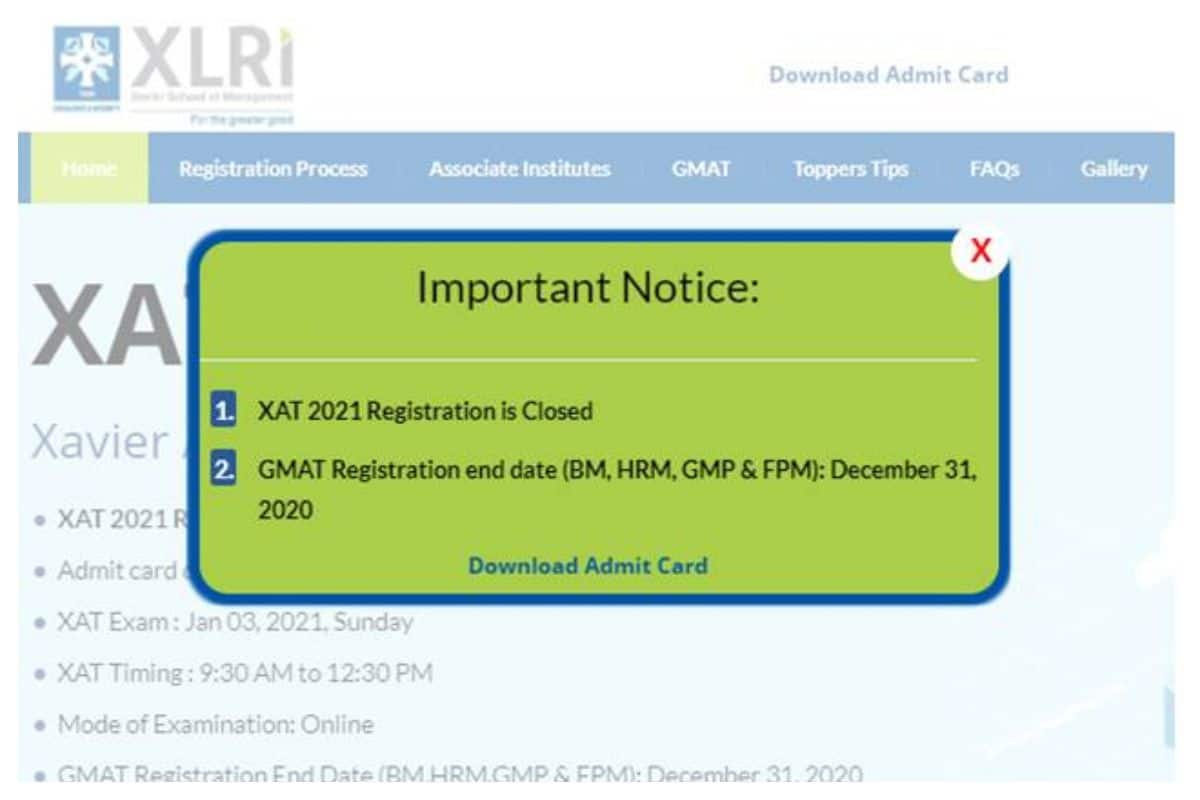 XAT 2021 Admit Card Released by XLRI At xatonline.in, CHECK Steps To Download Here