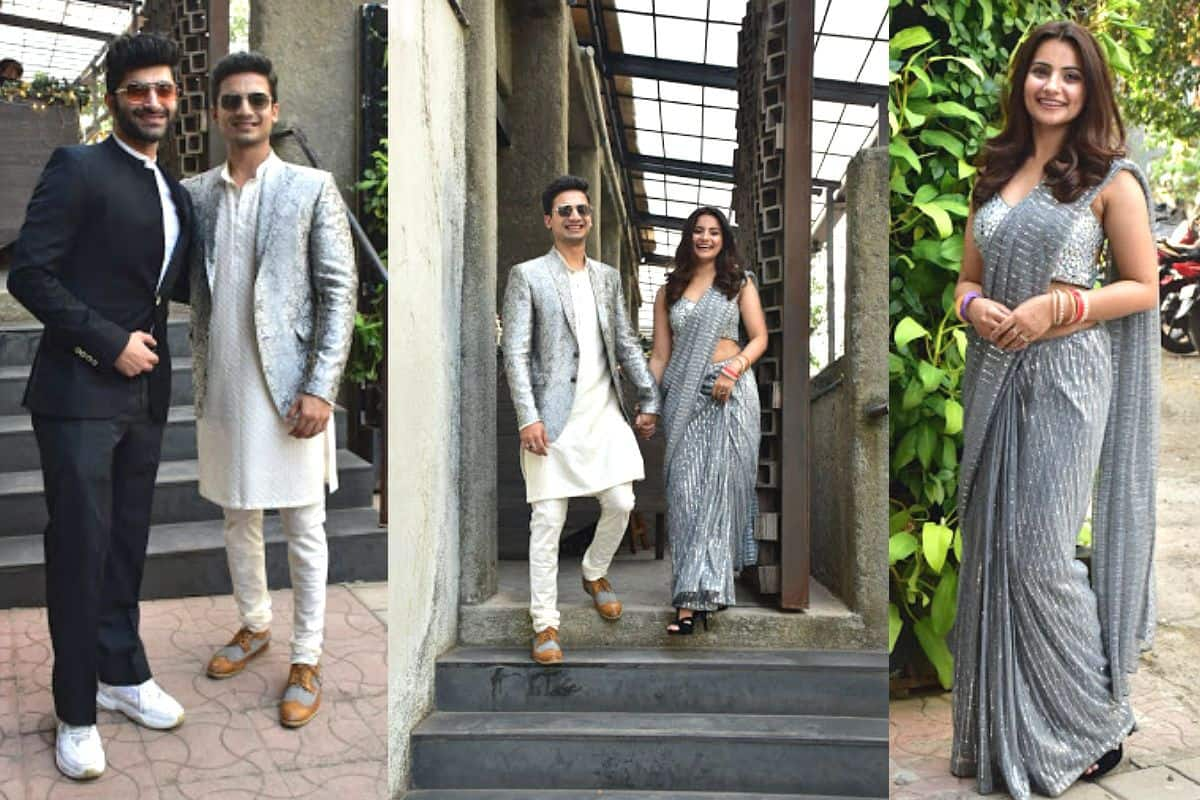 Mirzapur Star Priyanshu Painyuli And Wife Vandana Joshi Look Drenched in Love at Their Wedding Party - See Pics