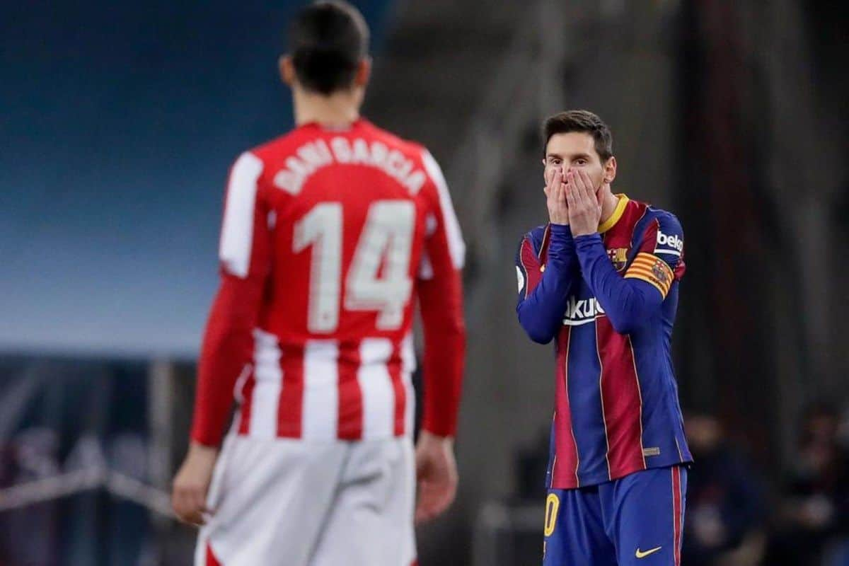 Lionel Messi Gets First-Ever Red Card as Athletic Bilbao ...