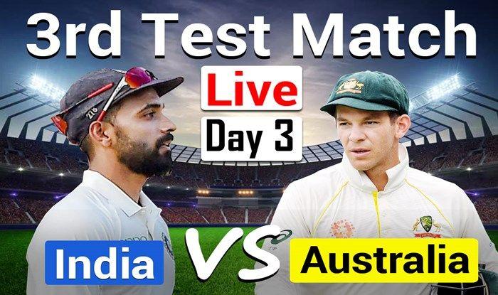 LIVE India vs Australia 3rd Test Day 3 Live Score Sydney ...