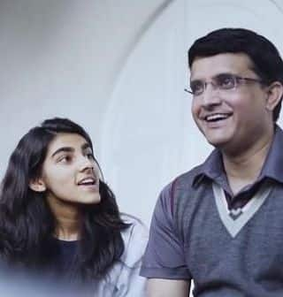 Sourav Ganguly with sana Ganguly instagram pics