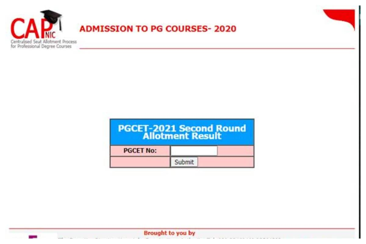 Karnataka PGCET Allotment Result 2020 Declared for 2nd Round at kea.kar.nic.in, Direct Link Here