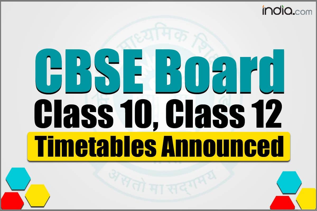 CBSE Releases Revised Date Sheet For Board Exams. Check Class 10th, 12th New Timetable in Detail
