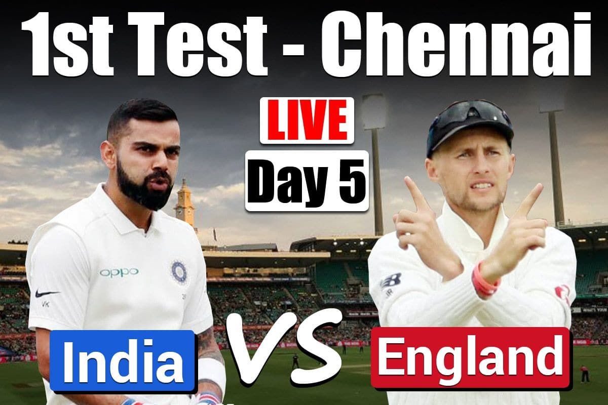 Image result for India vs England 1ST Test, Day 5