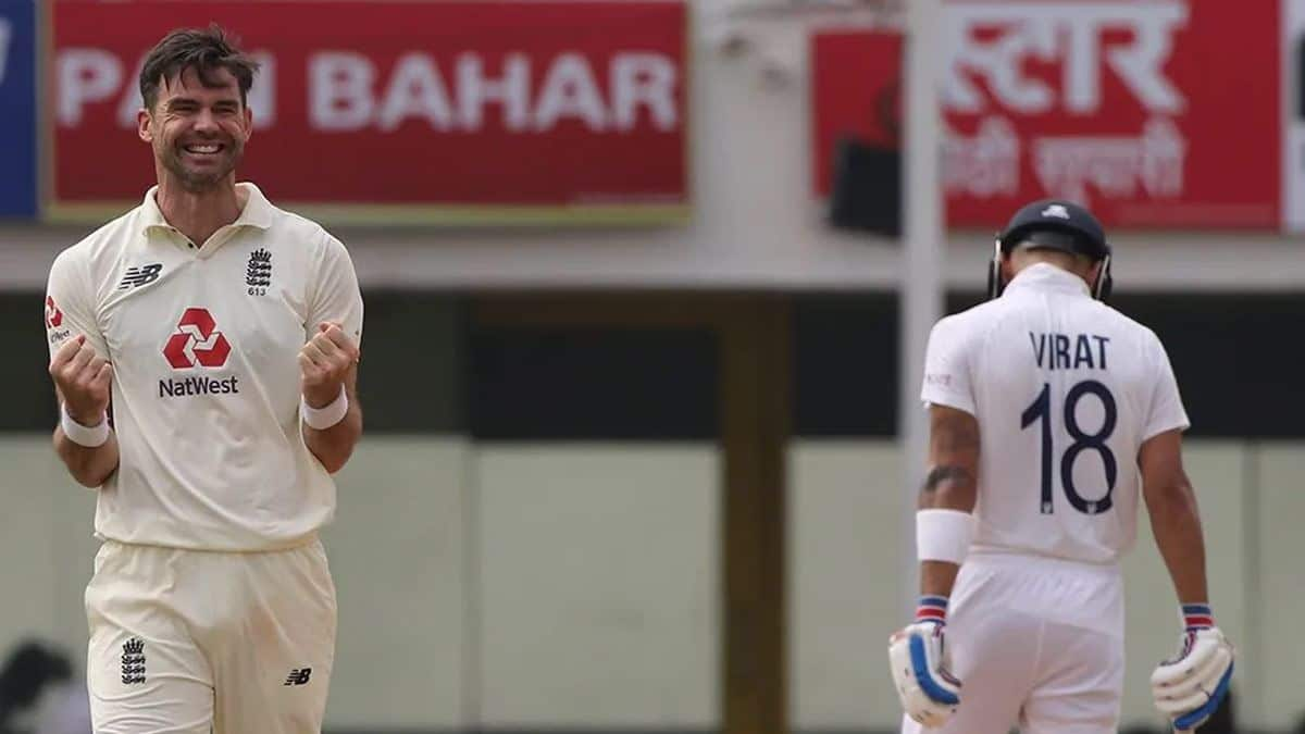 India vs England 2021: James Anderson Trends on Twitter After he Slices  Through Virat Kohli Men in Chennai | Cricket News