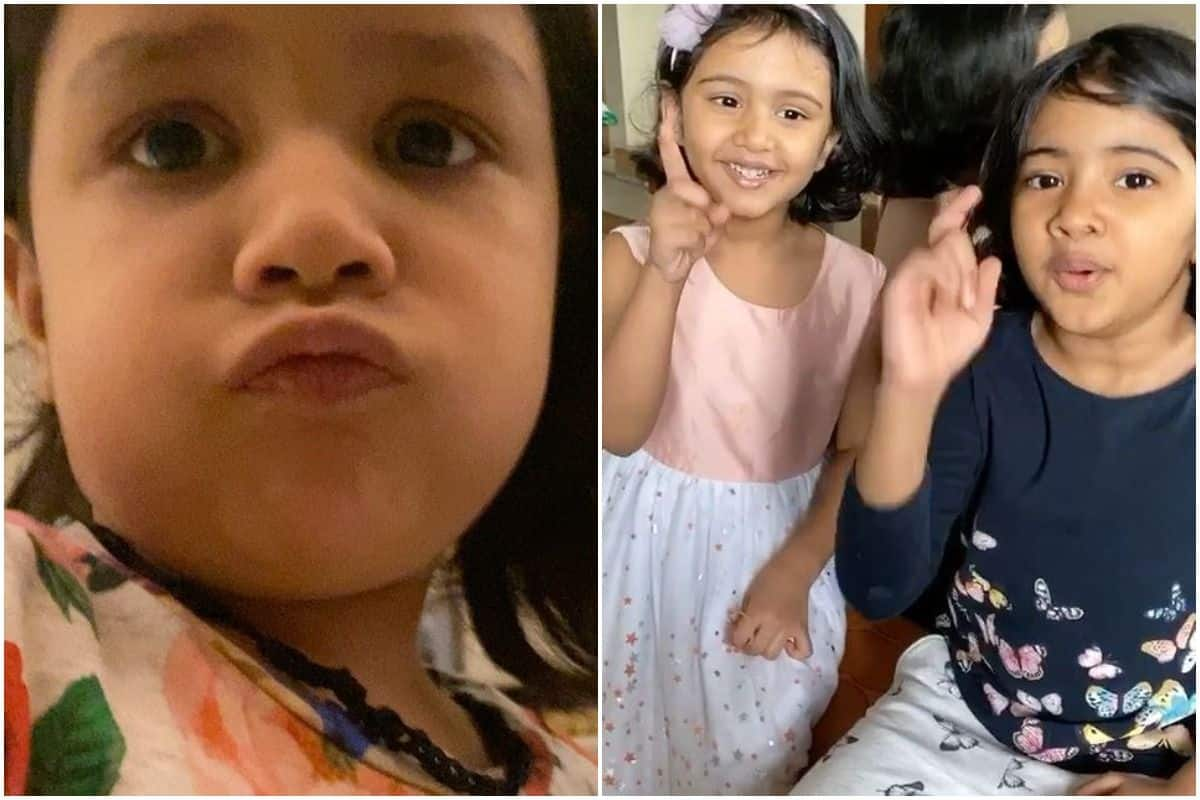Ms dhoni daughter ziva and r ashwin daughters