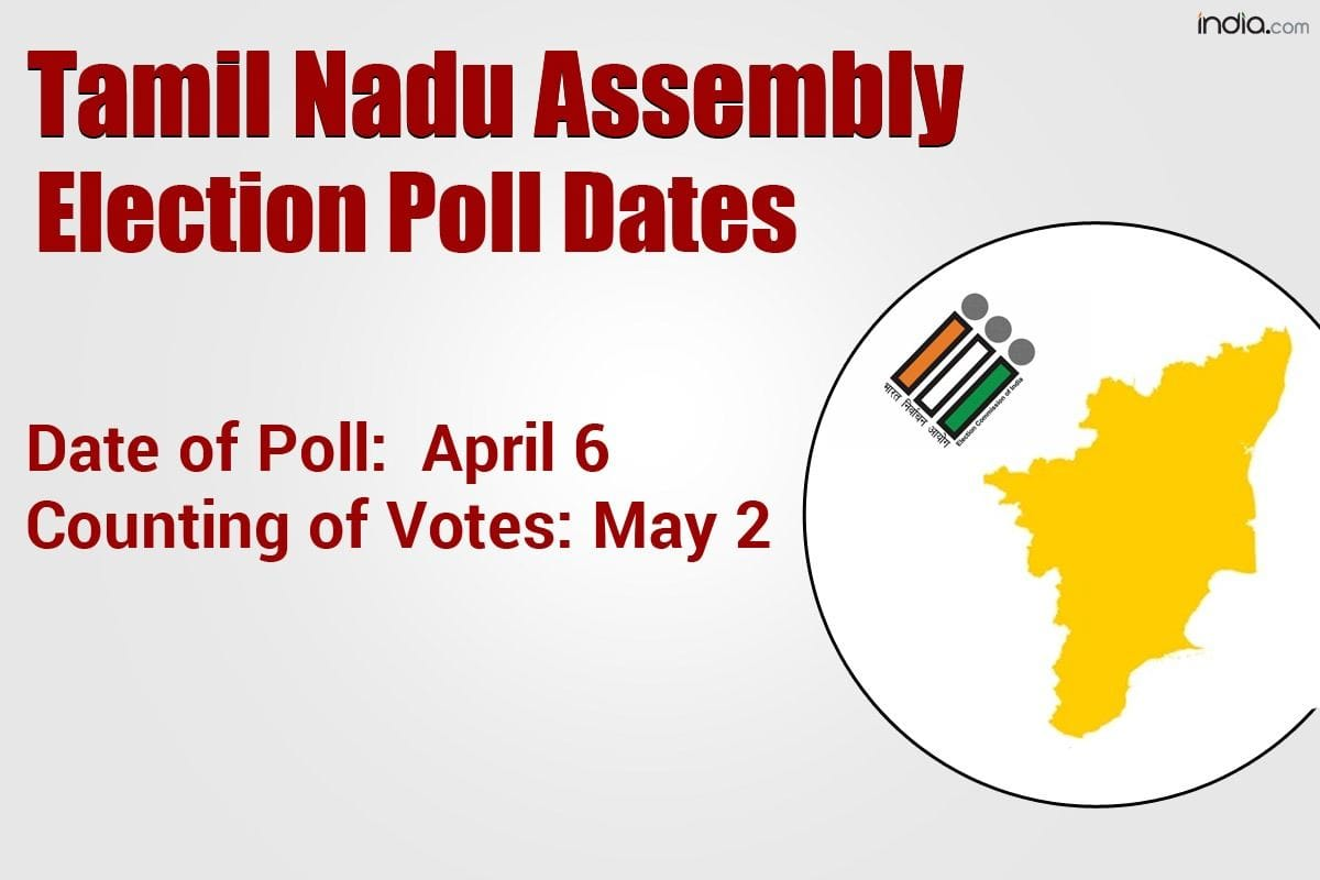Tamil Nadu Election 20 Dates Announced Single phased Polling on ...