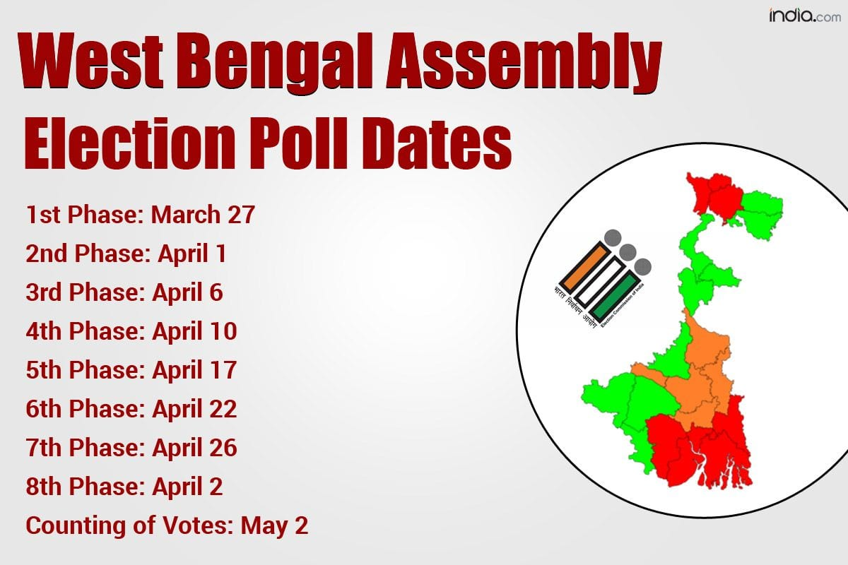 West Bengal Election 2021 Dates