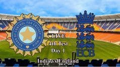 4th Test, Live Cricket Score, Motera: India vs England, Day 1