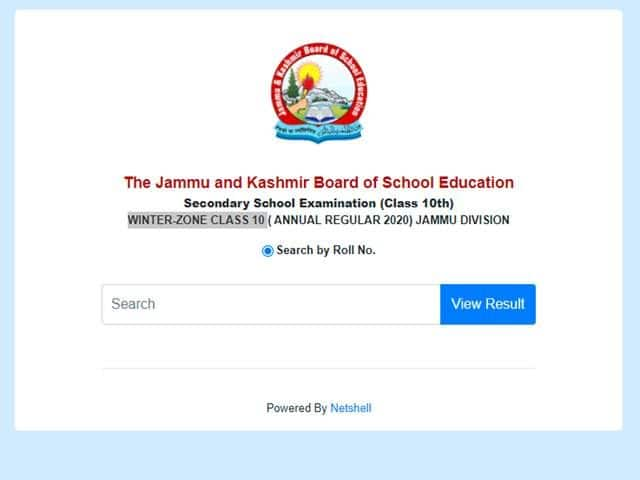 JKBOSE 10th Result 2020 Jammu Division DECLARED, Check JK Board Class 10 Results at jkbose.ac.in