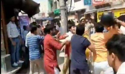 Mathura: BJP, RSS Workers Clash With Police in Vrindavan, Thrash Cop; Video Circulated on Social Media