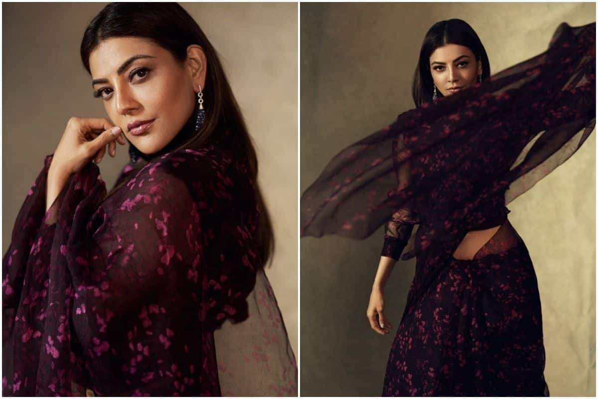 Kajal Aggarwal's Rs 22,500 Wine Coloured Organza Saree Deserves a Place in Your Closet - India.com
