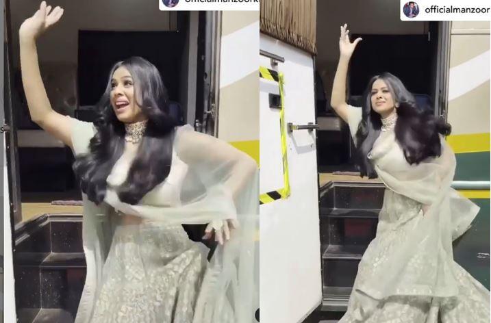 Nia Sharma Grooves to Bajre Da Sitta in Sexy Grey Lehenga, Watch Her Desi Moves