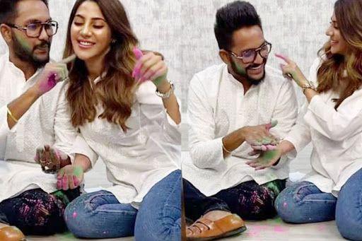 Nikki Tamboli, Jaan Kumar Sanu Play Holi Together, She Calls Them