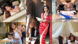 Shilpa Shetty-Raj Kundra Luxurious Seaside Mumbai Bungalow: Gold Chandelier, Samisha's Nursery, Viaan's Life-Sized Calvin, Majestic Living Room And More