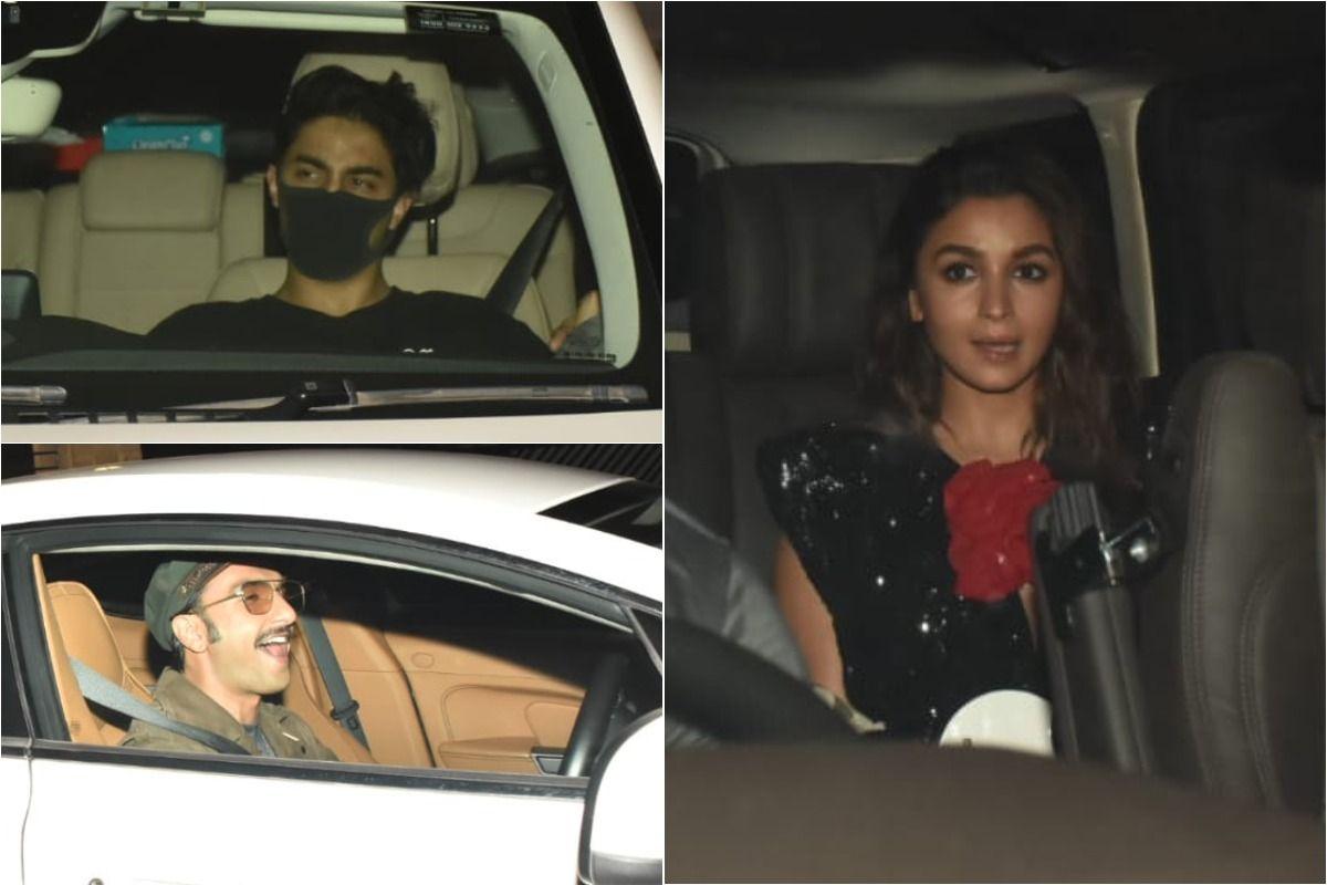 Aryan Khan, Deepika Padukone-Ranveer Singh Clicked at Karan Johar House