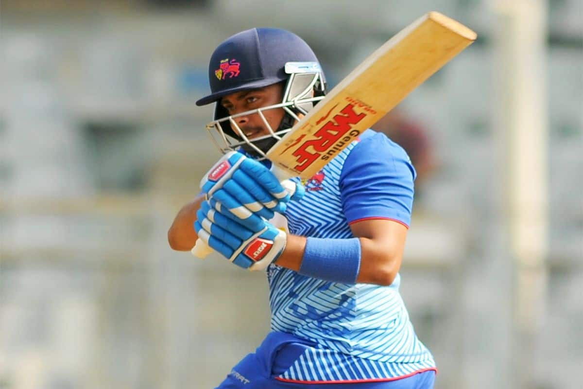 Prithvi Shaw Becomes First Player to Score 800 Runs in Vijay Hazare Trophy