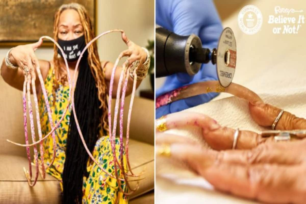 Woman With Worlds Longest Nails Finally Cuts Them, Her Trimmed ...