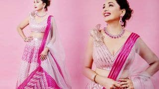 Madhuri Dixit in Rs 1,65,000 Pink Lehenga is Straight Out of Fairytale – Check Mesmerising Pics