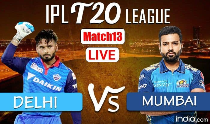 LIVE IPL 2021 DC vs MI Live Cricket Score Today, Latest Match Updates: Pollard Removes Smith But Dhawan Solid - India.com