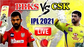 LIVE IPL 2021 PBKS vs CSK Live Cricket Score, Today's Match Updates: Dhoni Wins Toss, Unchanged Chennai Opt to Bowl vs Punjab