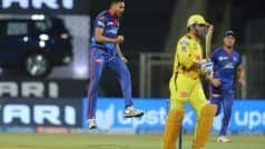 WATCH | Dhoni Clean BOWLED by Avesh Khan For Duck