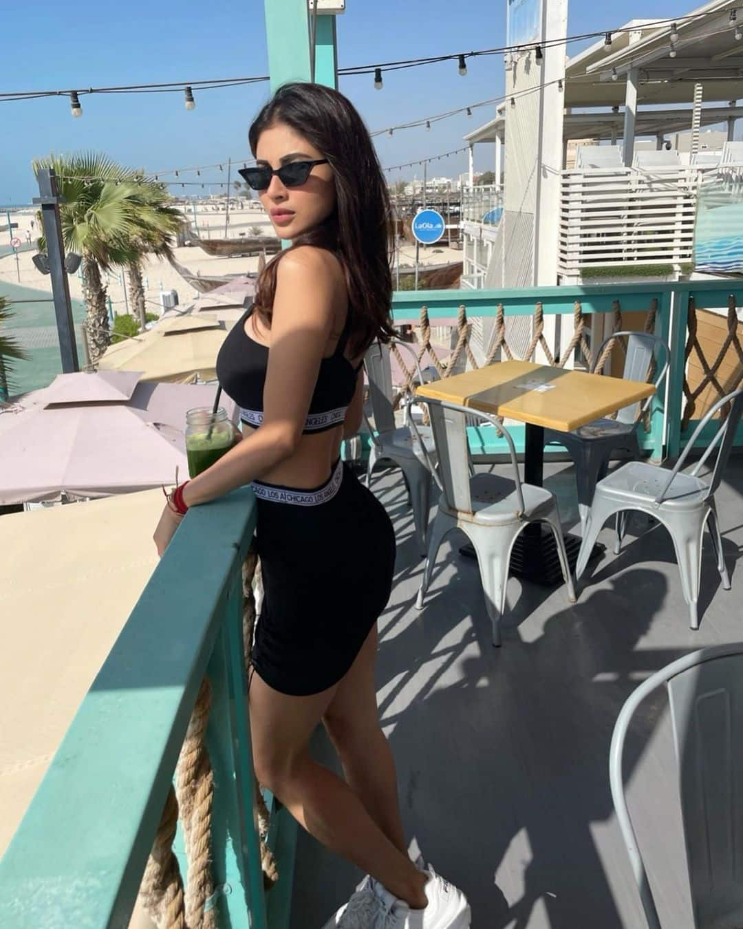 Mouni Roy Hot Photo In Black Dress  9
