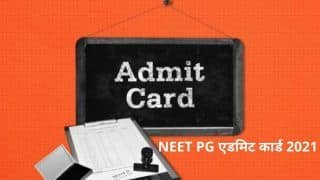 NEET PG Admit Cards 2021 to be Released Soon at nbe.edu.in, Here's How to Download