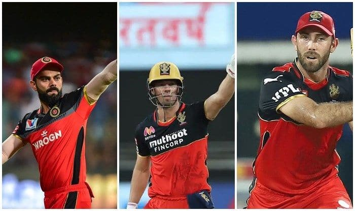 Virat Kohli, Glenn Maxwell And AB de Villiers