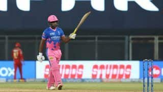 IPL 2021 RR vs PBKS Report: Sanju Samson Hundred in Vain as Punjab Kings Edge Rajasthan Royals in High-Scoring Thriller at Wankhede Stadium
