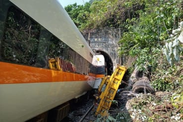 Major train accident in Taiwan