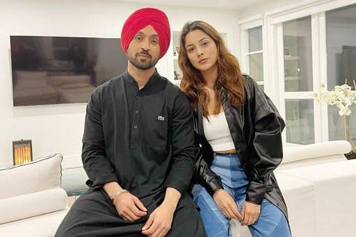 Diljit Dosanjh Finally Poses With Shehnaaz Gill After Wrapping up Their Film Honsla Rakh