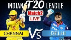 CSK vs DC Live Cricket Score And Updates IPL 2021: MS Dhoni Departs For Duck as Delhi Fightback