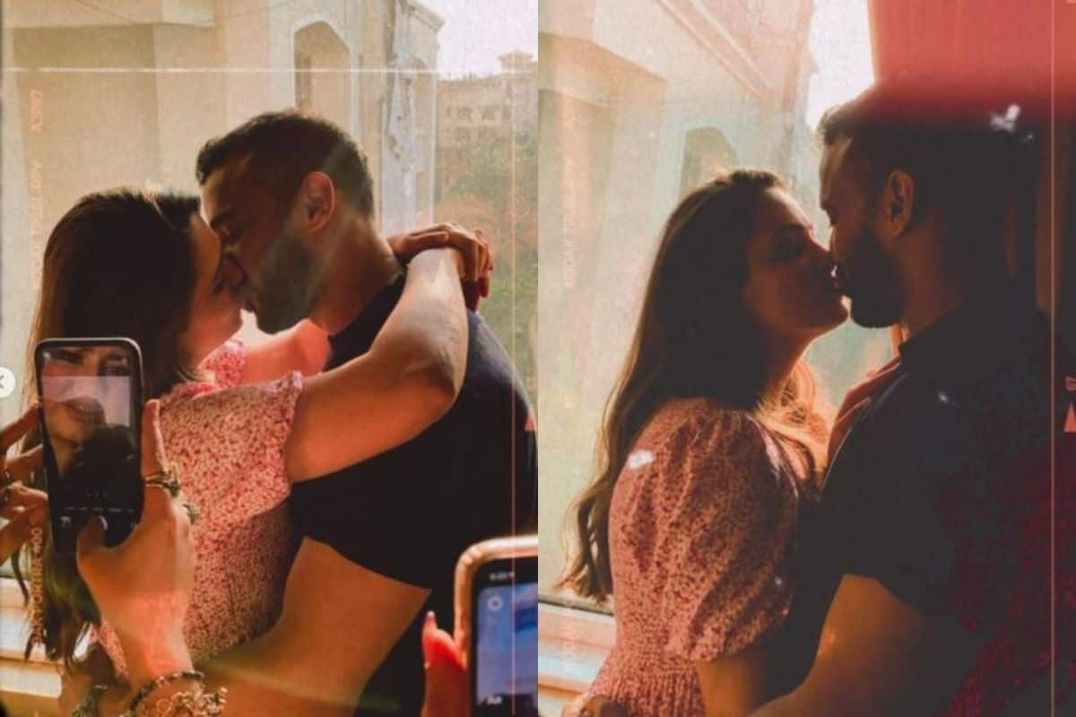 Anita Hassanandani Shares Intimate Kiss With Hubby Rohit Reddy But Someone is