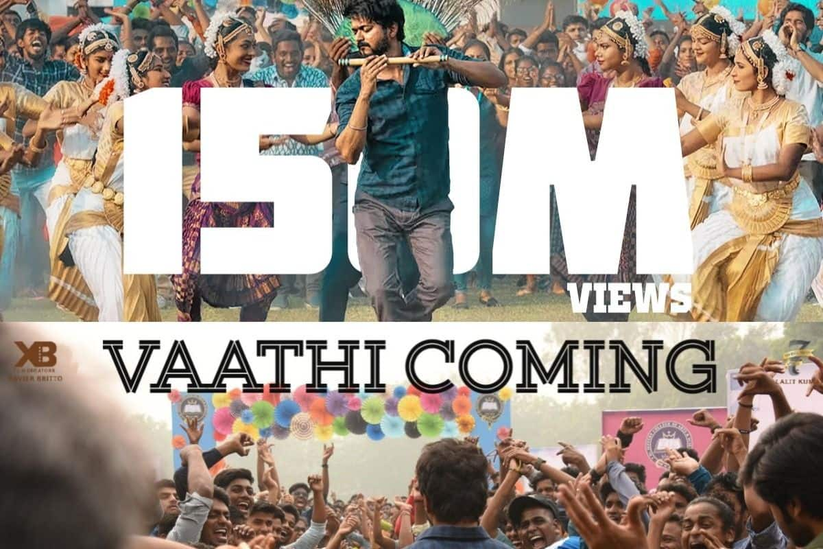 Master Song Vaathi Coming Crosses 150 Million Views on YouTube, Fans Celebrate on Twitter