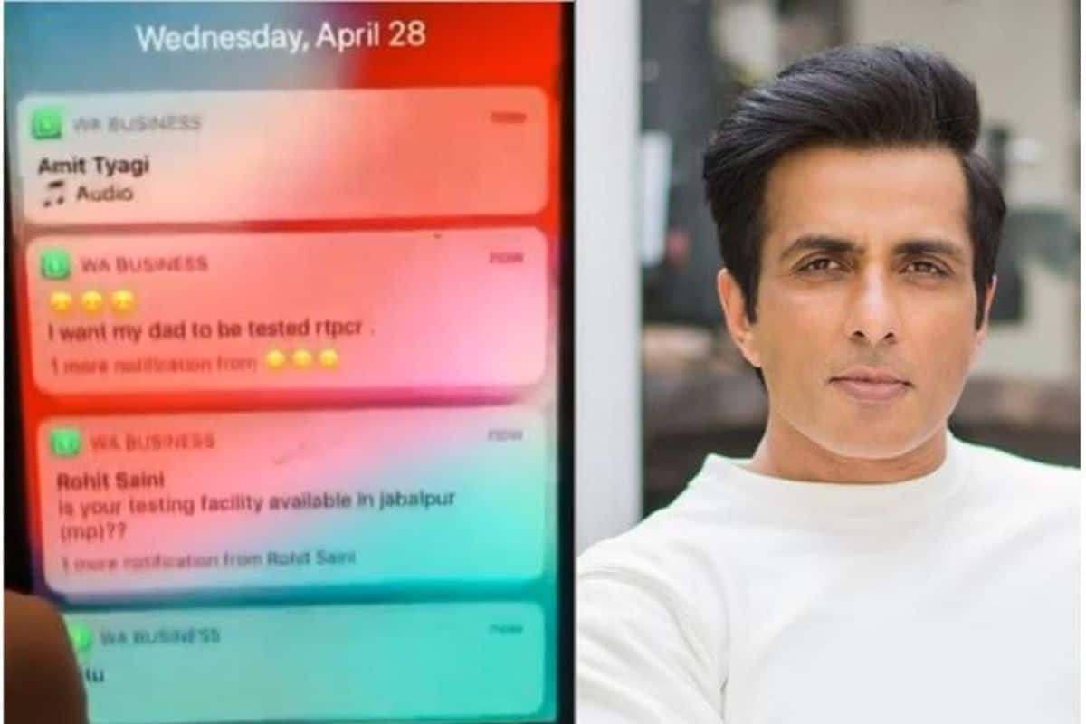 Sonu Sood Shows Unstoppable Notifications on His Phone Screen as Indians Ask For Help- Watch