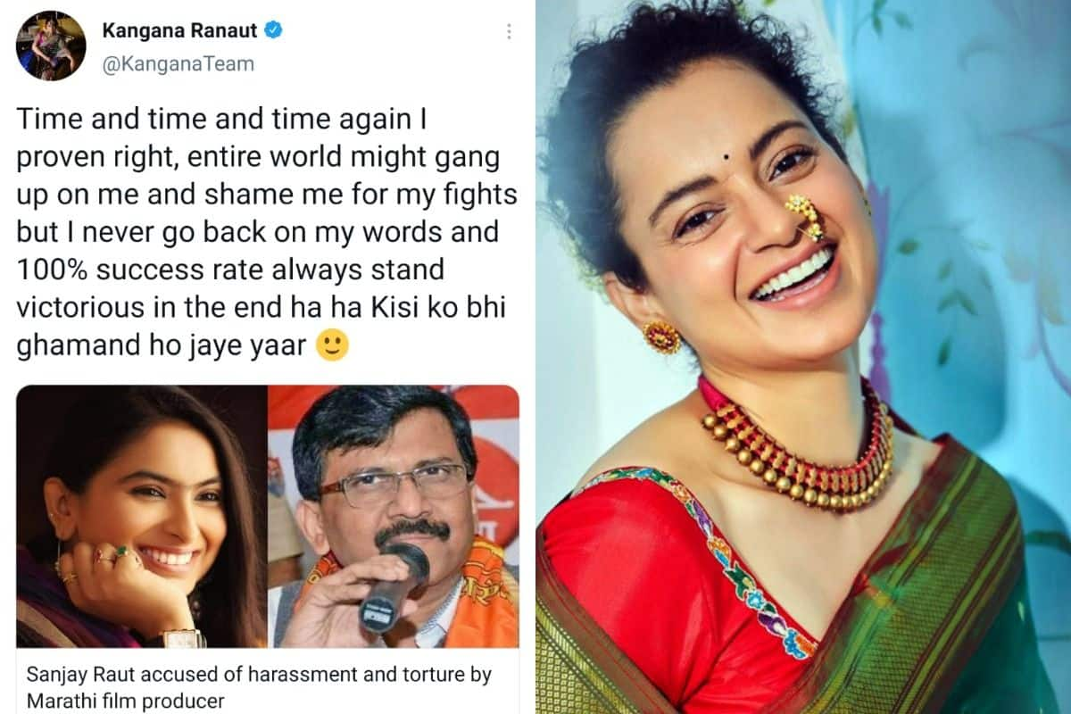 Kangana Ranaut Blasts Sanjay Raut as he Gets Accused of Harassment by Film Producer, Says 'Proven Right'