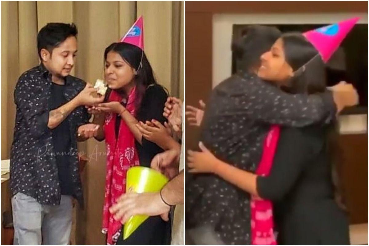 Indian Idol 12: Pawandeep Rajan Feeds Cake to Arunita Kanjilal, Hugs Her on His Birthday