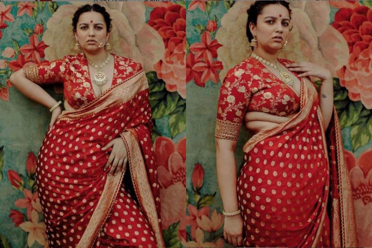 Sabyasachi's Empowering Post Representing Plus-Size Model Flaunting Side Roles is Winning Hearts on Internet