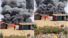 Huge Fire Breaks Out in Gurugram's Naharpur Kasan Village with 700 Shanties
