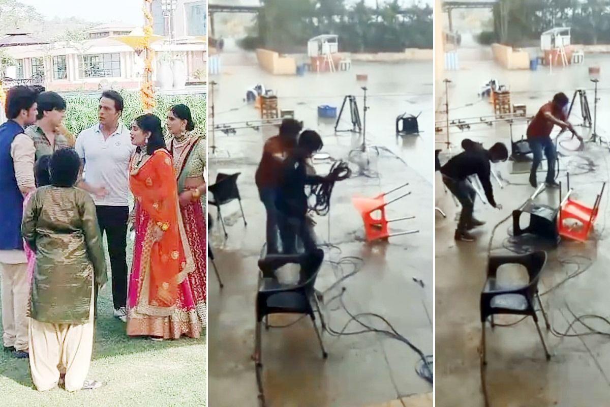 Cyclone Taukate Damages Set Of Yeh Rishta Kya Kehlata Hai in Gujarat