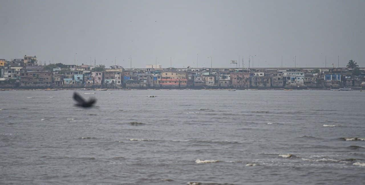 Cloudy weather in the city due to formation of Cyclone Tauktae in the Arabian Sea, in Mumbai, Saturday, May 15, 2021.