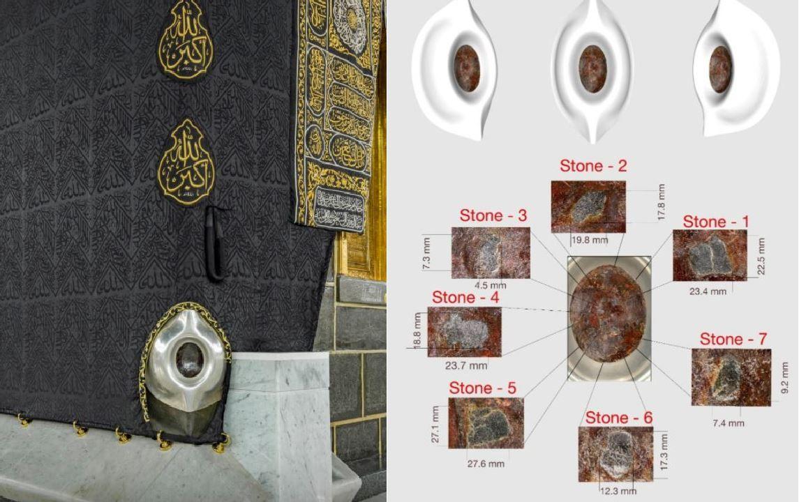 Durante el Hajj, la peregrinación islámica anual más importante a La Meca, los devotos caminan en el sentido de las agujas del reloj alrededor de la piedra negra.
