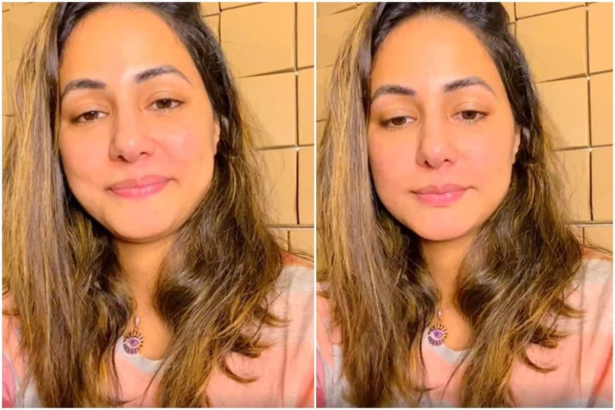 Hina Khan Tests Negative For COVID-19, Interacts With Fans In An Instagram Live Wearing Her Dad T-Shirt