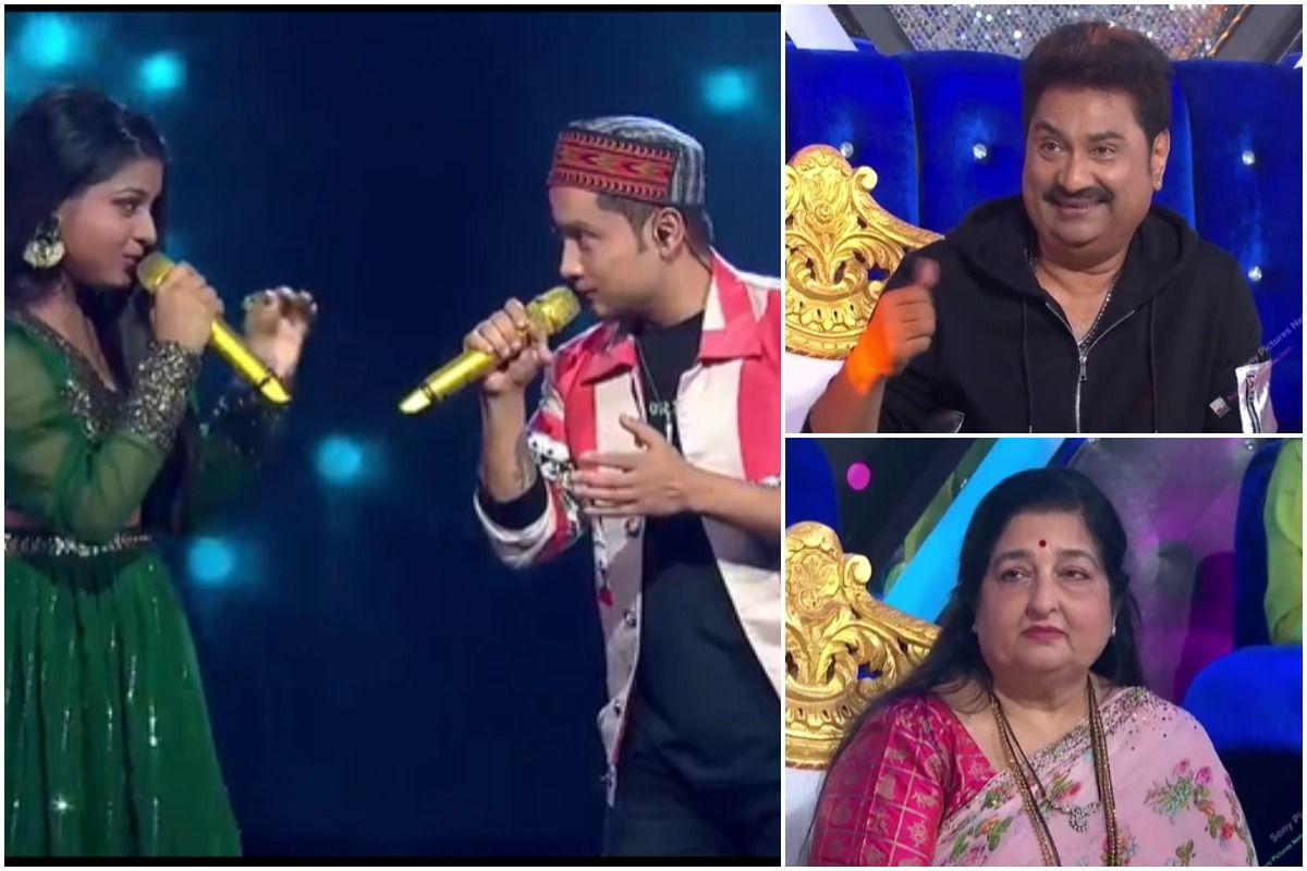 Indian Idol – Pawandeep Rajan-Arunita Kanjilal Leave Anuradha Paudwal-Kumar Sanu Mesmerised With Their Romantic Performance