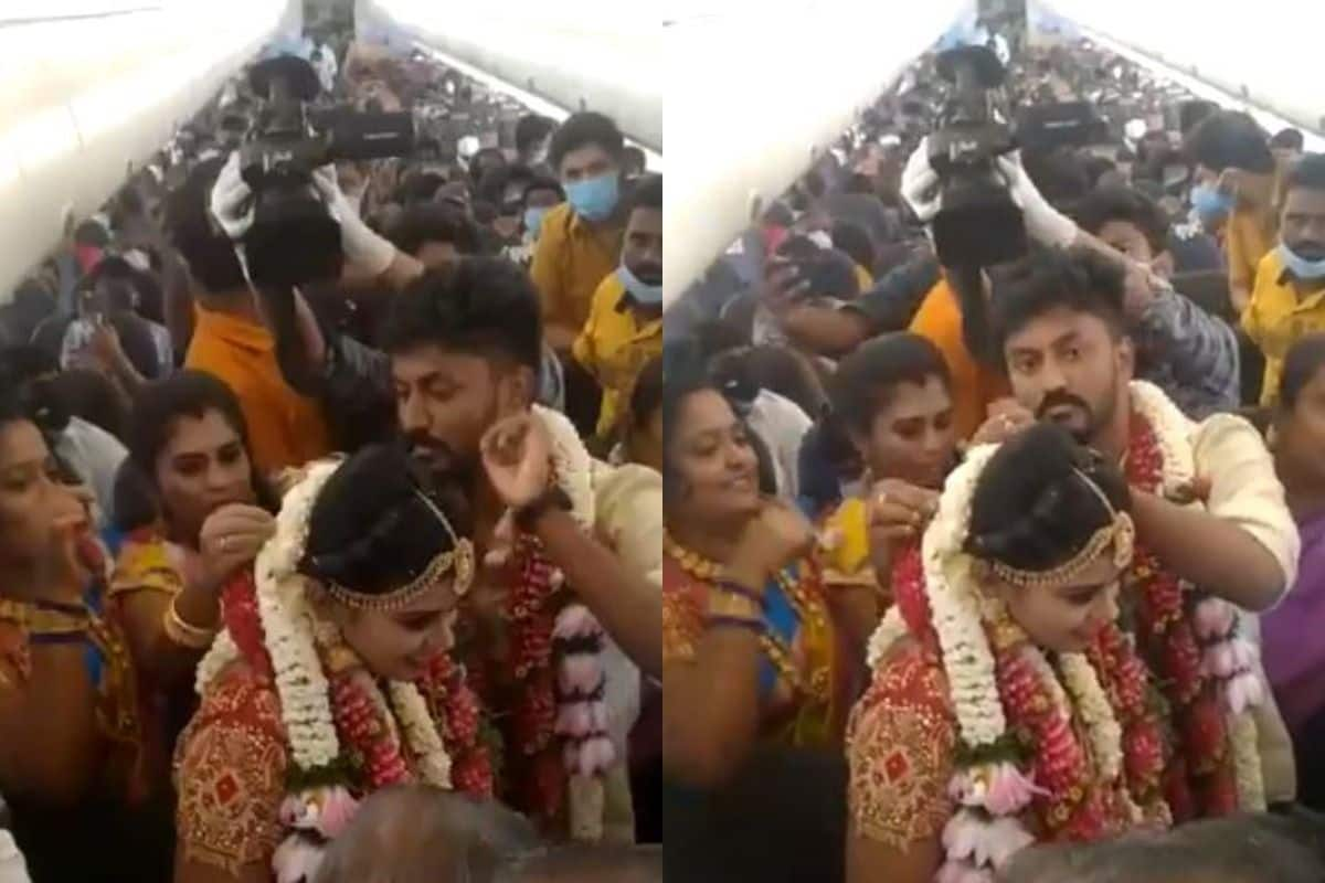 Viral Video: Madurai Couple Gets Married on Plane to Avoid Covid  Restrictions   India.com