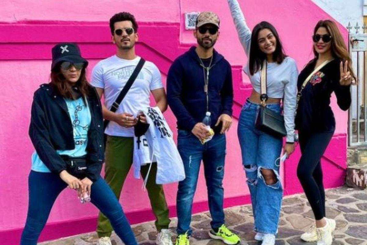 Arjun Bijlani Shares Groupie With Nikki Tamboli, Rahul Vaidya From First Stunt Location