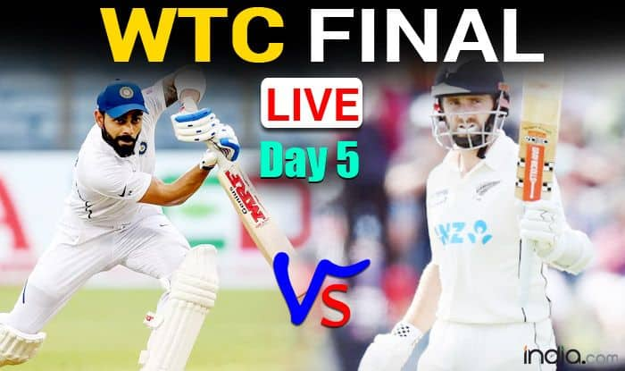 LIVE IND vs NZ WTC Final Live Cricket Score, Today Match DAY 5 Updates: Williamson-Taylor Lead Key For New Zealand's Cautious Start, India Eye Early Wickets