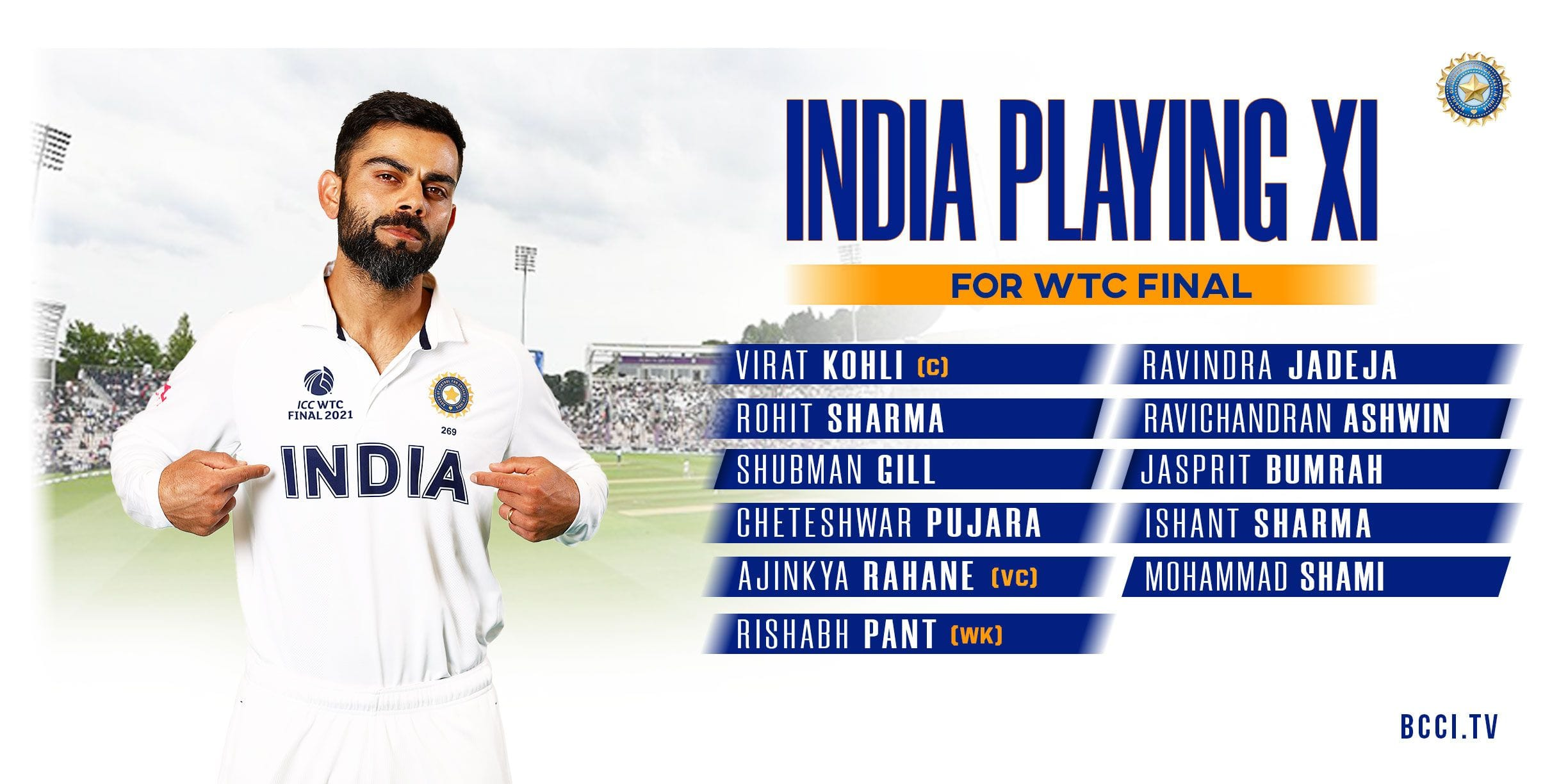WTC Final: India Pick Their Playing XI Against New Zealand